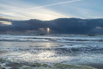 Trap naar de hemel Zonsondergang Texel van Waterpieper Fotografie