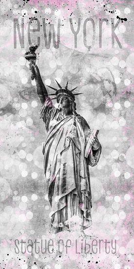 Grafische Kunst in NEW YORK CITY vrijheidsbeeld van Melanie Viola