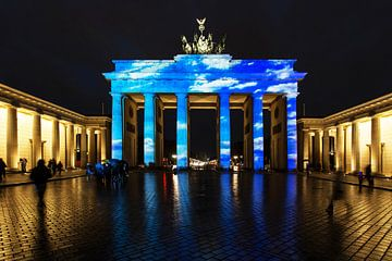 La Porte de Brandebourg dans une illumination spéciale sur Frank Herrmann