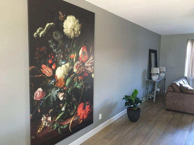 Klantfoto: Jan Davidsz de Heem. Vaas met bloemen , op canvas