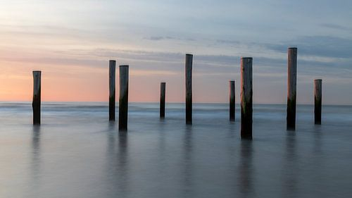 Palendorp in de zee