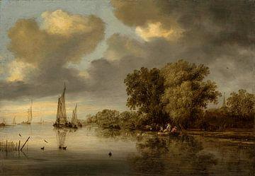 Rivierlandschap, Salomon van Ruysdael