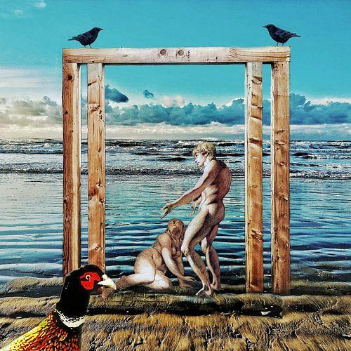 De ontdekking van Adam en Eva (aan zee)