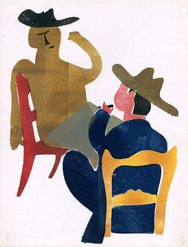 Die Männer bei Tisch, Hendrik Nicholas Werkman von Atelier Liesjes