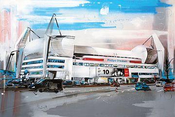 Philips stadion schilderij van Jos Hoppenbrouwers