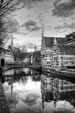 Museum Flehite historisch Amersfoort zwart-wit sur Watze D. de Haan