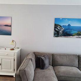Klantfoto: Portinatx, Ibiza van Arisca van 't Hof, op staal