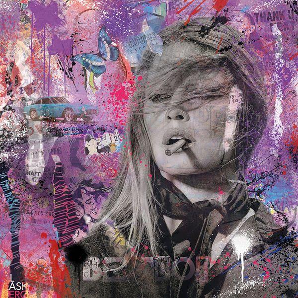 Brigitte Bardot Pop Art von Rene Ladenius Digital Art