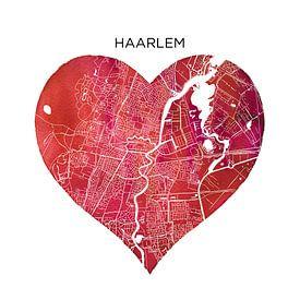 Haarlem | Les plans de la ville en forme de cercle de mur sur Wereldkaarten.Shop
