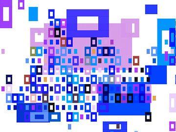 Mondriaan stijl kleurrijk van Ready Or Not