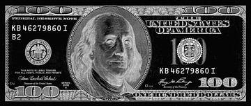 All about the Benjamins - 100 dollar kunstwerk van Roger VDB