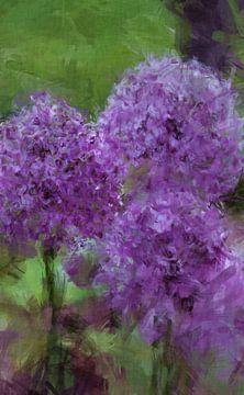 Blaue Blütenkugeln van Roswitha Lorz