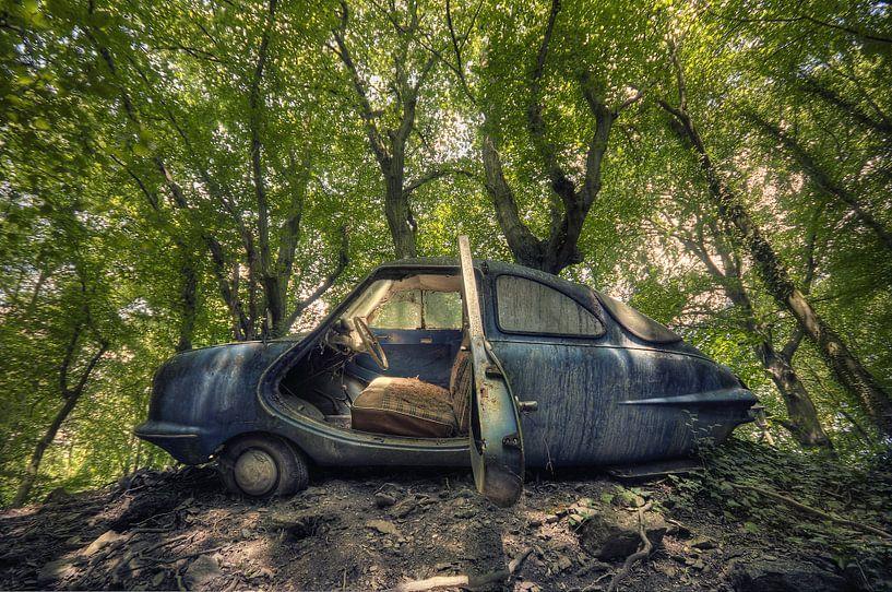 Urbex - Auto in het bos van Angelique Brunas