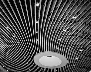 Detail van het plafond van treinstation Delft van