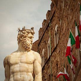 Florence - Fontana del Nettuno van Teun Ruijters
