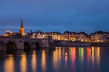 Zicht op Wijck, Maastricht van Bert Beckers