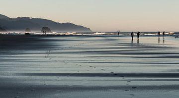 Cannon Beach, voetstappen van M. Cornu