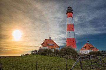 Am Westerhever Leuchtturm von Annett Mirsberger