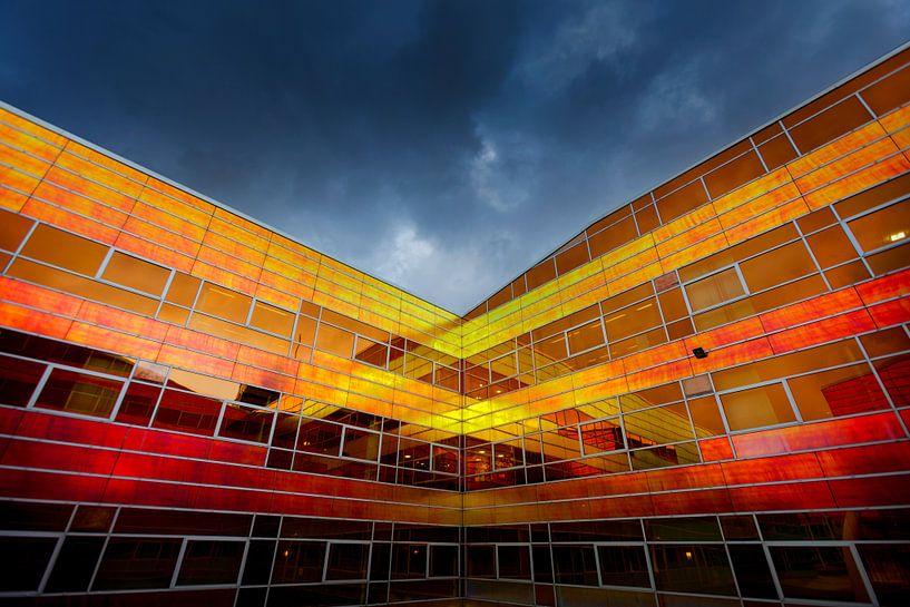 Bâtiment de l'UWV à Almere sur Rene  den Engelsman