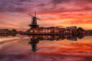 An autumn sunrise in Haarlem