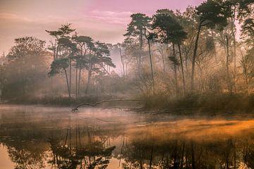 Zonsondergang van Marian van der Kallen Fotografie