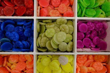 Zeepjes in allerlei geuren en kleuren. van Marian Klerx
