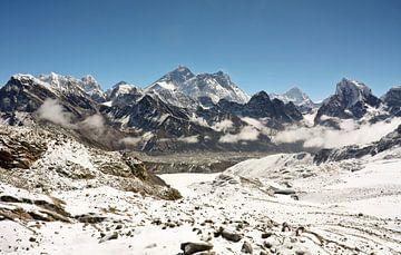 Mount Everest in de Himalaya van