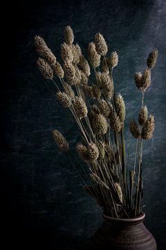 Stilleben mit getrocknetem Kanariengras von Maaike Zaal