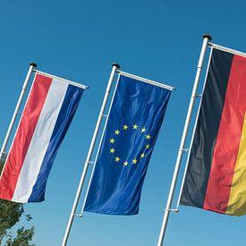 Nederlandse vlag, Europese Unie vlag en Duitse vlag van Tonko Oosterink