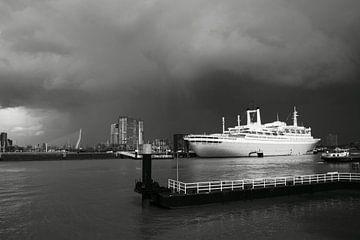 ss Rotterdam in zwart-wit van Rdam Foto Rotterdam