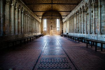 Klooster Mont St Michelle ;Monastery Mont St Michel;Monastery Mont St Michel;Monastery Mont St Miche van