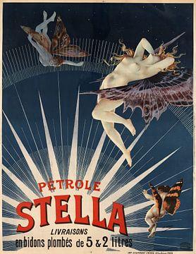 oude poster met reclame voor petroleum van Stella uit 1897 van Atelier Liesjes