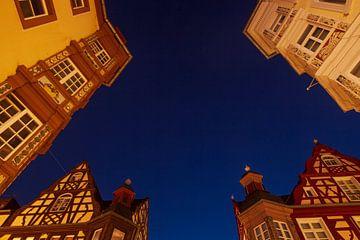 Historisches Fachwerkhaus Vier-Türme-Eck, Koblenz, Rheinland-Pfalz, Deutschland, Europa
