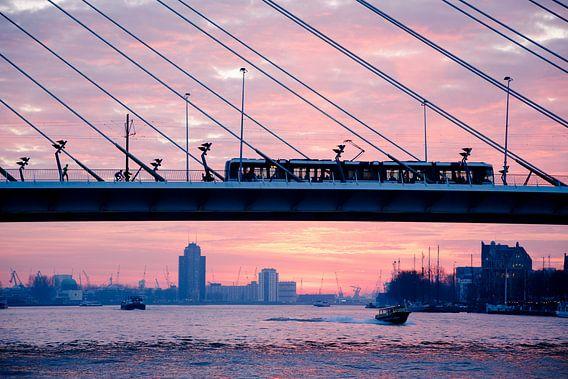 zonsondergang in Rotterdam van Rick Keus