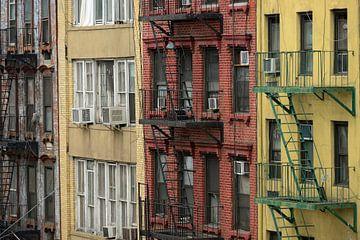 Brandtrappen in Chinatown in New York von Merijn van der Vliet