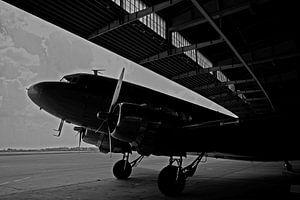 Rozijnenbommenwerper op de oude luchthaven Berlin-Tempelhof