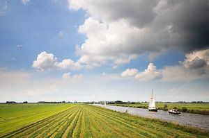 Doorvaart nabij Hommerts (Friesland) van Tjitte Jan Hogeterp