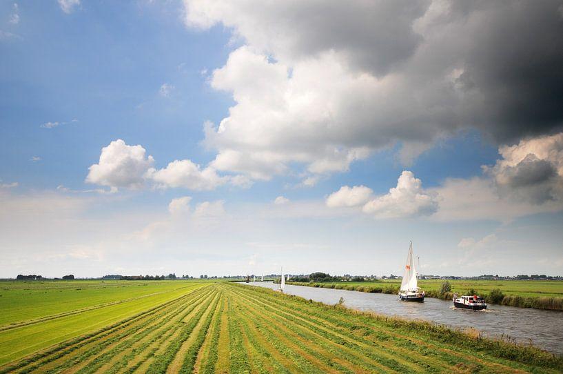 Doorvaart nabij Hommerts (Friesland) von Tjitte Jan Hogeterp