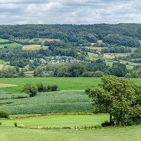 Panorama van de Zuid-Limburgse heuvels in de buurt van Epen van John Kreukniet