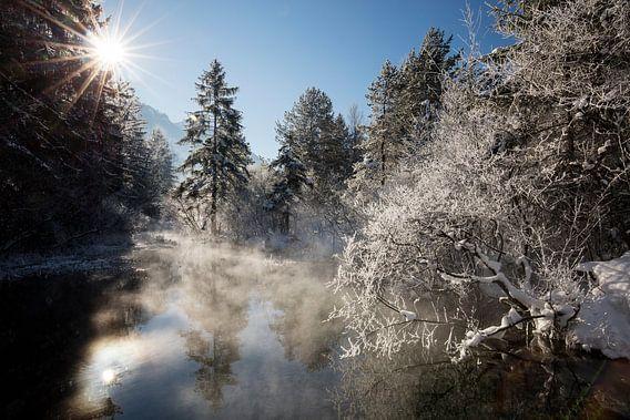 Winterstimmung bei Oberau von Andreas Müller