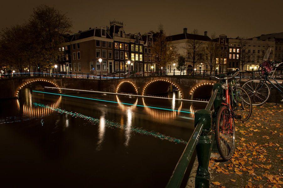Geparkeerde fiets in Amsterdam