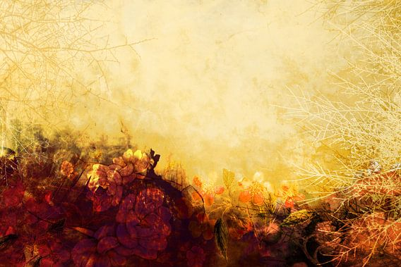 LOVELY FLOWERS ARE KISSING A YELLOW FIELD van Pia Schneider