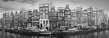 Panorama Amsterdamse gracht van Heleen van de Ven