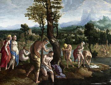 Die Taufe Christi im Jordan, Jan van Scorel