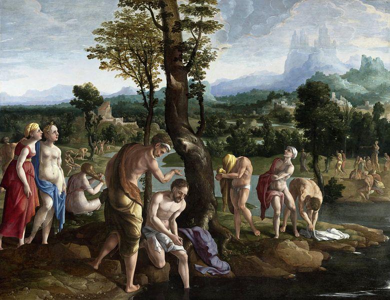 Die Taufe Christi im Jordan, Jan van Scorel von Meesterlijcke Meesters