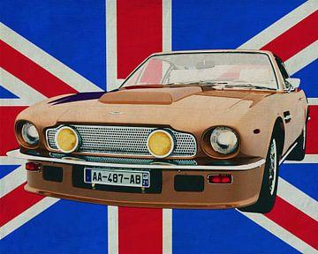 Aston Martin V8 Vantage voor de Union Jack