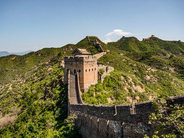 Chinesische Mauer in den Hügeln von Stijn Cleynhens