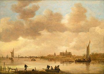 Flussszene, Jan van Goyen