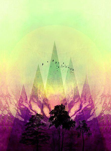TREES under MAGIC MOUNTAINS V Portrait van Pia Schneider