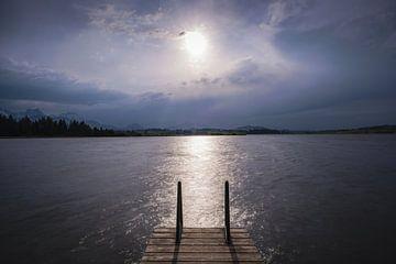 Sonnenuntergang am Hopfensee von Walter G. Allgöwer